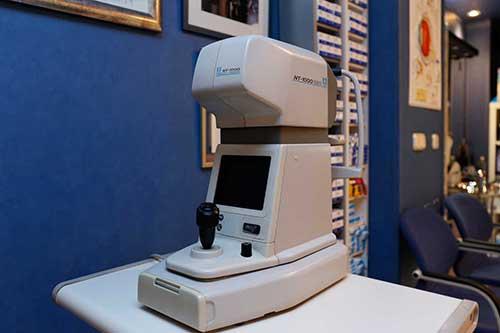 Equipo para examen de visión, Óptica Santa Otilia