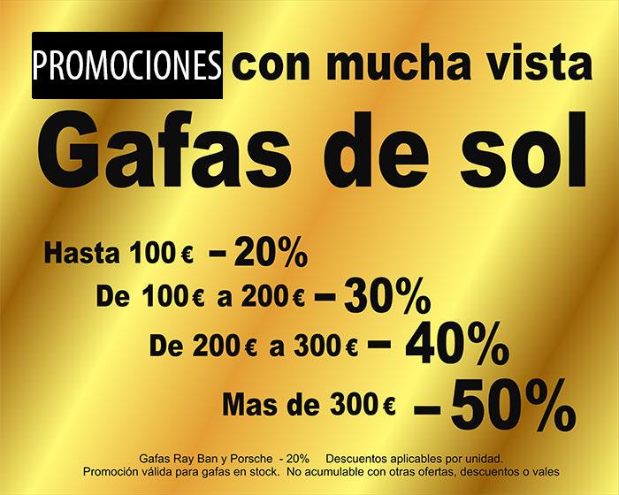 promoción gafas de sol en Optica Santa Otilia en Huelva