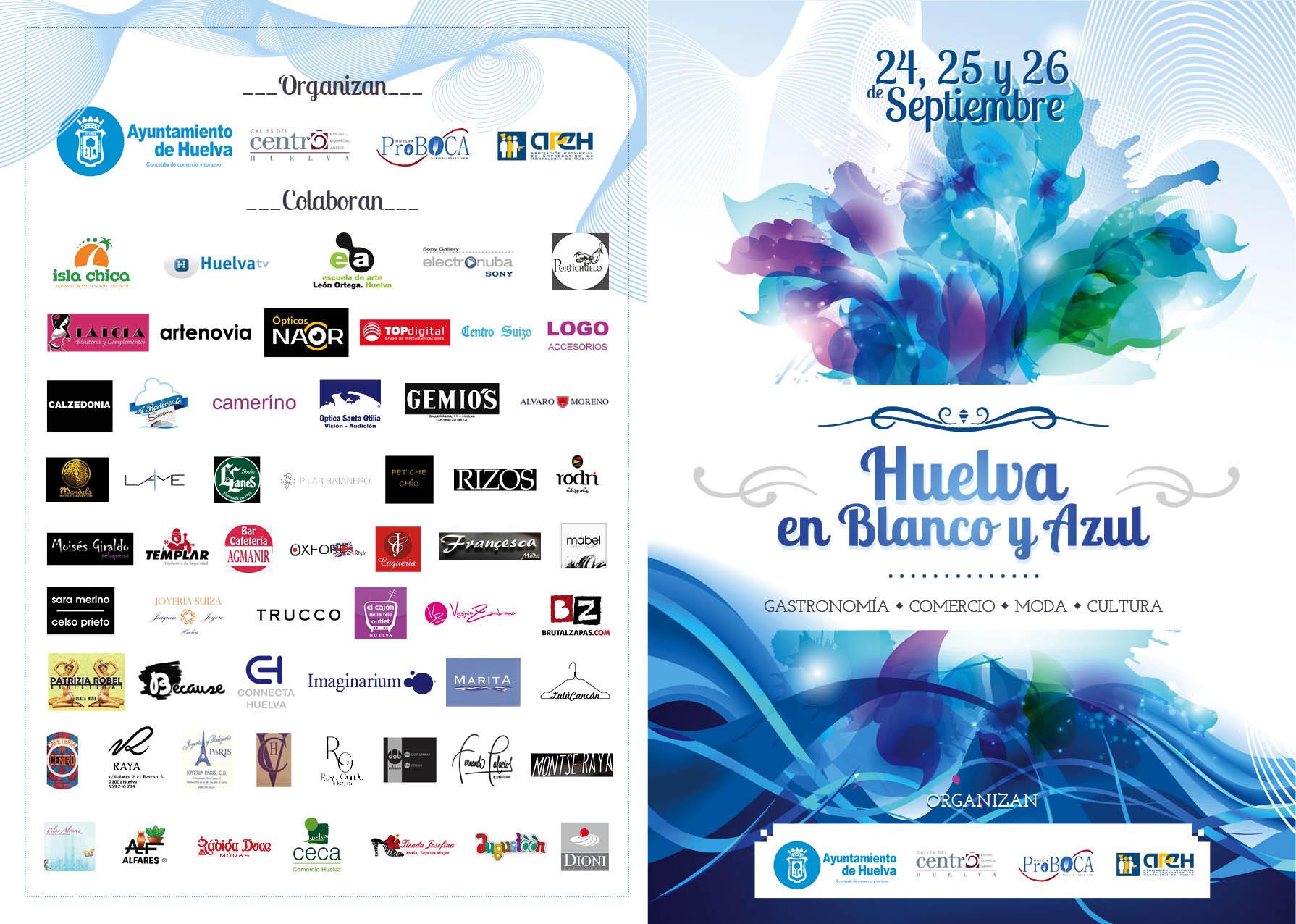 Santa Otilia en Huelva en Blanco y Azul
