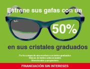 Promoción de lentes graduadas al 50% de descuento