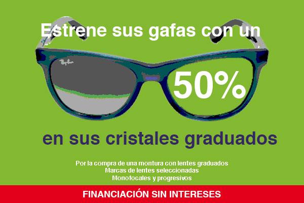 50% de descuento en las lentes de sus gafas graduadas: ¡estrene gafas!
