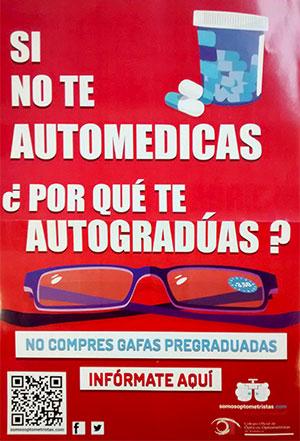 Campaña no te autogradues tus gafas, somosoptometristas.com, Óptica Santa Otilia en Huelva