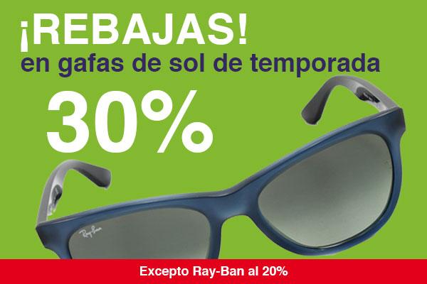 Promoción rebajas 2015 de gafas de sol de primeras marcas al 30$