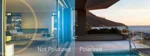 No polarizadas VS polarizadas. Imagen: http://polaroideyewear.com/es/technology