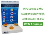 Oferta de tapones de baño 59 euros la pareja