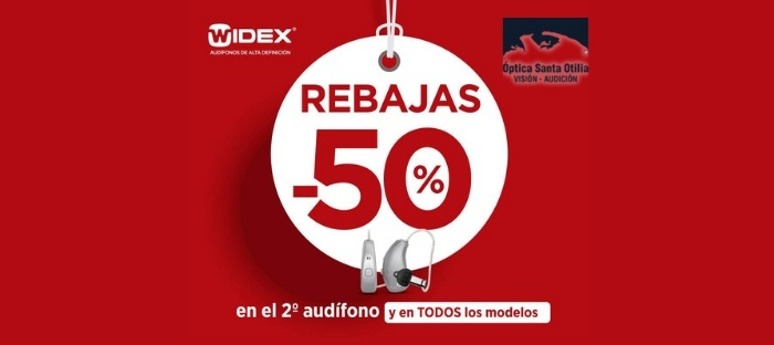 Rebajas en tus audífonos Widex